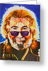 Jerry Garcia-dark Star Greeting Card
