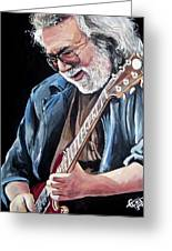Jerry garcia the grateful dead painting by tom carlton jerry garcia the grateful dead greeting card m4hsunfo Choice Image