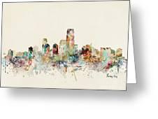 Jersey City New Jersey Skyline Greeting Card