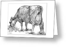 Jersey Milking Cow Greeting Card