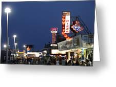 Jersey Shore Board Walk Greeting Card