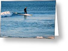 Jersey Shore Surfer Greeting Card