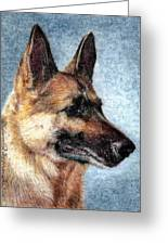 Jersey The German Shepherd Greeting Card by Melissa J Szymanski