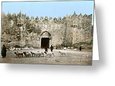 Jerusalem: Damascus Gate Greeting Card