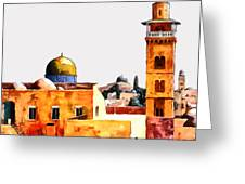 Jerusalem Domes And Minarets Greeting Card