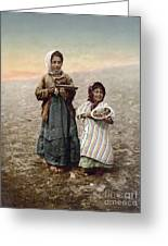 Jerusalem Girls, C1900 Greeting Card