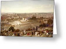 Jerusalem In Her Grandeur Greeting Card