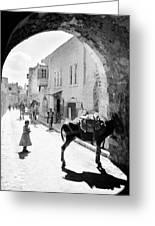 Jerusalem Street In 1914 Greeting Card