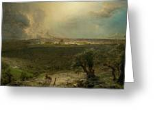 Jerusalem View From The Mount Of Oliv Greeting Card