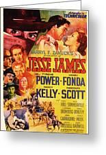 Jesse James 1939 Greeting Card