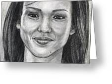 Jessica Alba Portrait Greeting Card