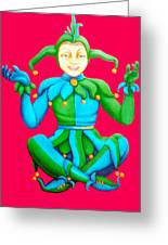 Jester Greeting Card by Barbara Stirrup