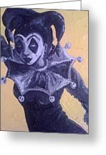 Jester Girl #1 Greeting Card