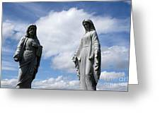Jesus And Mary Greeting Card