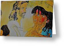 Jesus And The Children Greeting Card