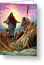 Jesus Appears To The Fishermen Greeting Card
