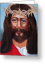 Jesus In Red Greeting Card