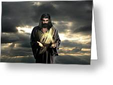 Jesus In The Clouds Greeting Card
