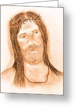 Jesus In The Light Greeting Card
