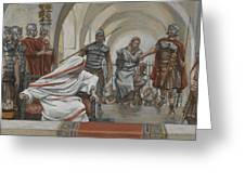 Jesus Led From Herod To Pilate Greeting Card by Tissot
