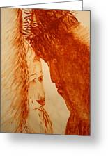 Jesus Meets Mother Mary On The Road To Calvary Greeting Card