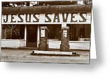 Jesus Saves 1973 Greeting Card