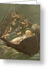 Jesus Sleeping During The Storm Greeting Card by John Lawson