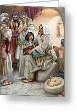 Jesus Teaching The People Greeting Card by Arthur A Dixon