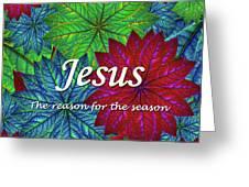 Jesus The Reason For The Season Christmas  Greeting Card