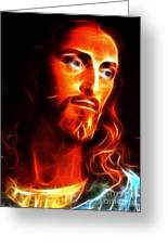 Jesus Thinking About You Greeting Card by Pamela Johnson