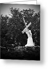 Jesus With Cross Greeting Card