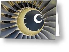 Jet Engine Detail. Greeting Card