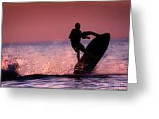 Jet Ski On Lake Erie Greeting Card