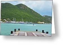 Jet Ski On The Lagoon Caribbean St Martin Greeting Card