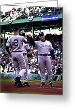 Jeter And Torre Greeting Card