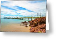 Jetty By The Sea Greeting Card
