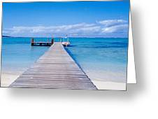 Jetty On The Beach, Mauritius Greeting Card