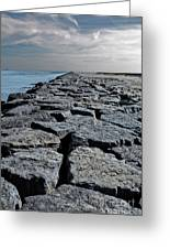 Jetty Over The Coast Greeting Card
