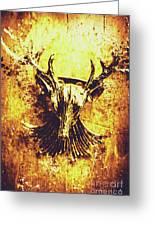 Jewel Deer Head Art Greeting Card