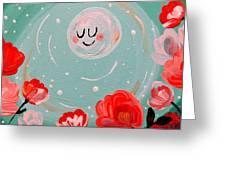 Jewel Moon Greeting Card