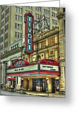 Jewel Of The South Tivoli Chattanooga Historic Theater Art Greeting Card