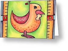Jewel Rooster II  Greeting Card