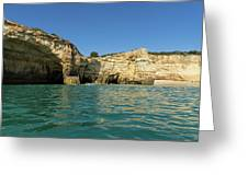 Jewel Toned Ocean Art - Gliding By Sea Caves And Secluded Beaches Greeting Card
