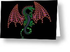 Jeweled Dragon Greeting Card