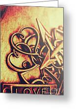 Jewelry Love Background Greeting Card