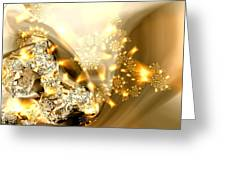 Jewels And Satin Greeting Card