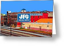 Jfg Coffee Greeting Card by Steven  Michael