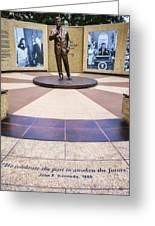 Jfk Tribute Fort Worth Greeting Card
