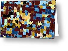 Jigsaw Abstract Greeting Card
