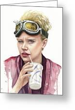 Jillian Holtzmann Ghostbusters Portrait Greeting Card